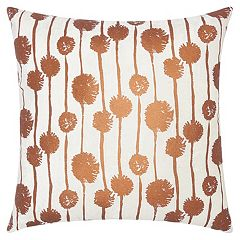 Mina Victory Lumin Metallic Dandelions Throw Pillow