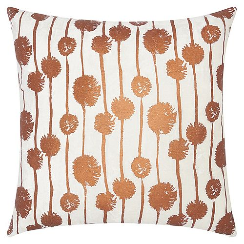 Mina Victory Lumin Metallic Dandelions Throw Pillow