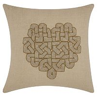Mina Victory Lumin Woven Heart Throw Pillow