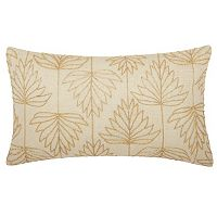 Mina Victory Lumin Beaded Lily Leaves Oblong Throw Pillow