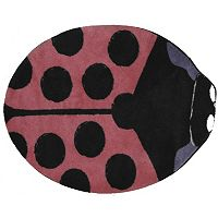 Fun Rugs Fun Time Shape Lady Bug Rug - 2'11'' x 3'3''