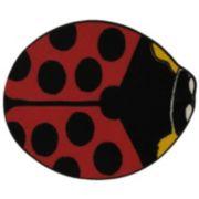 Fun Rugs Fun Time Shape Lady Bug Rug - 2'11'' x 3'3''
