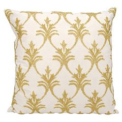 Mina Victory Lumin Fleur de Lis Throw Pillow