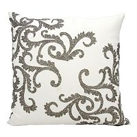Mina Victory Lumin Beaded Corner Scroll Throw Pillow