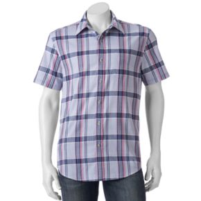 Men's SONOMA Goods for Life? Flexwear Modern-Fit Plaid Stretch Button-Down Shirt