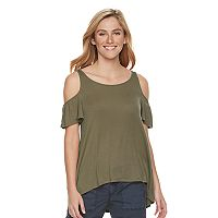 Women's SONOMA Goods for Life™ Ribbed Cold-Shoulder Tee