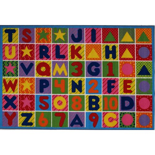 Fun Rugs Fun Time Numbers & Letters Rug