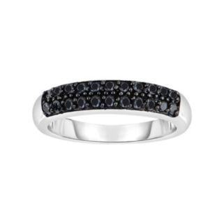 Sterling Silver 1/2 Carat T.W. Black Diamond Ring