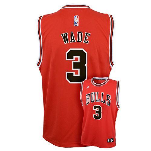 68957b92bd2 Boys 8-20 adidas Chicago Bulls Dwyane Wade Replica Jersey