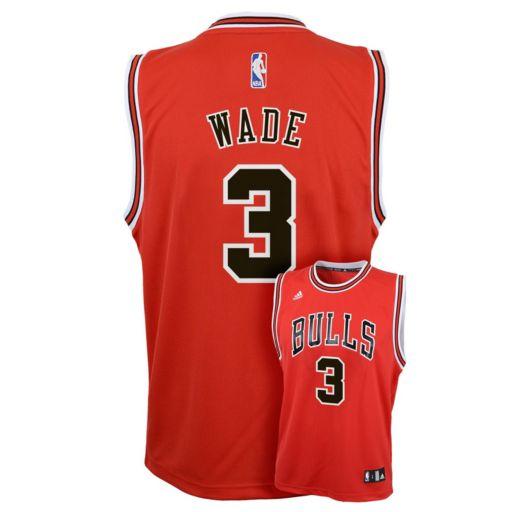 Boys 8-20 adidas Chicago Bulls Dwyane Wade Replica Jersey