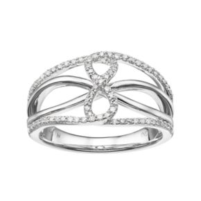 14k White Gold 1/4 Carat T.W. Diamond Openwork Infinity Ring