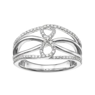 14k White Gold 1/4 Carat T.W. Diamond Openwork Infinity Ring