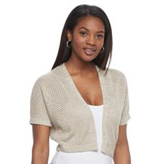 Women's Croft & Barrow® Open-Work Bolero