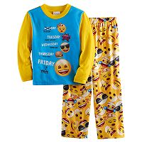 Boys 4-10 Emoji 2-Piece Pajama Set