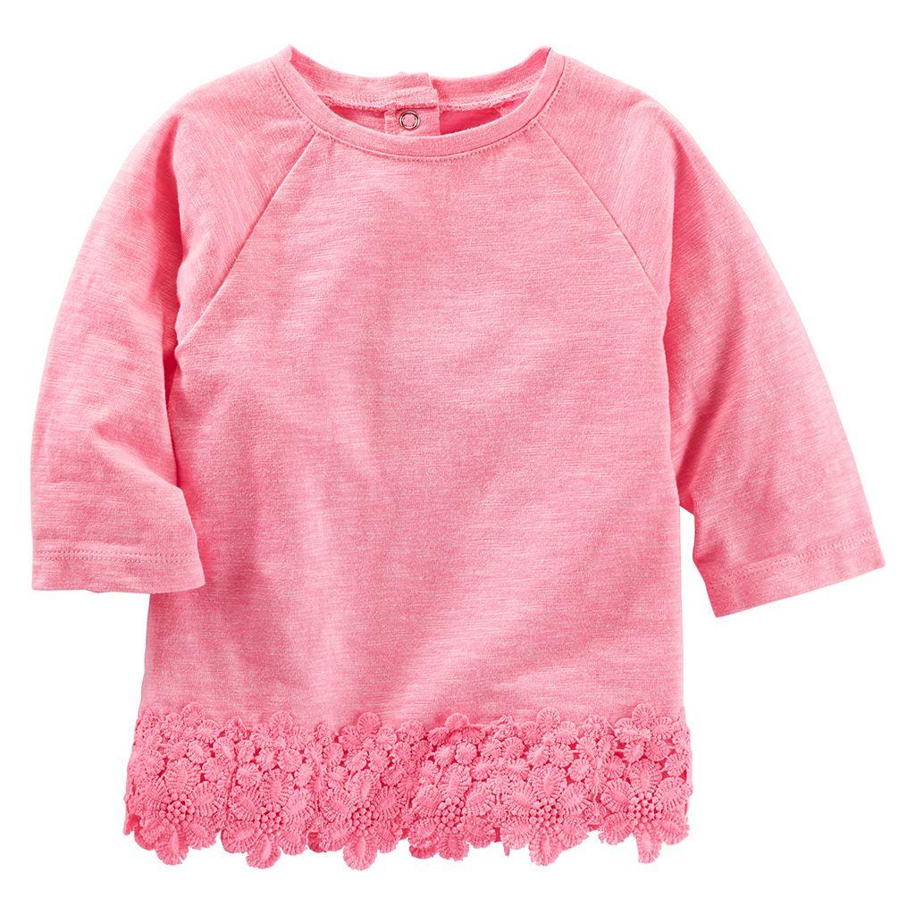 Toddler Girl OshKosh B'gosh® Lace Trim Knit Top