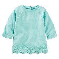 Toddler Girl OshKosh B'gosh® Lace Trim Knit Top