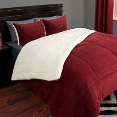 Portsmouth Home Sherpa Fleece Comforter Set