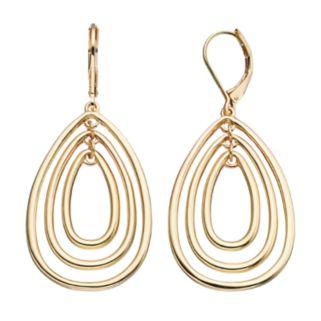 Napier Nickel Free Triple Teardrop Earrings