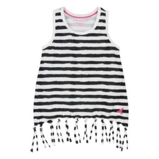 Toddler Girl Burt's Bees Baby Organic Striped Fringe Tank Top