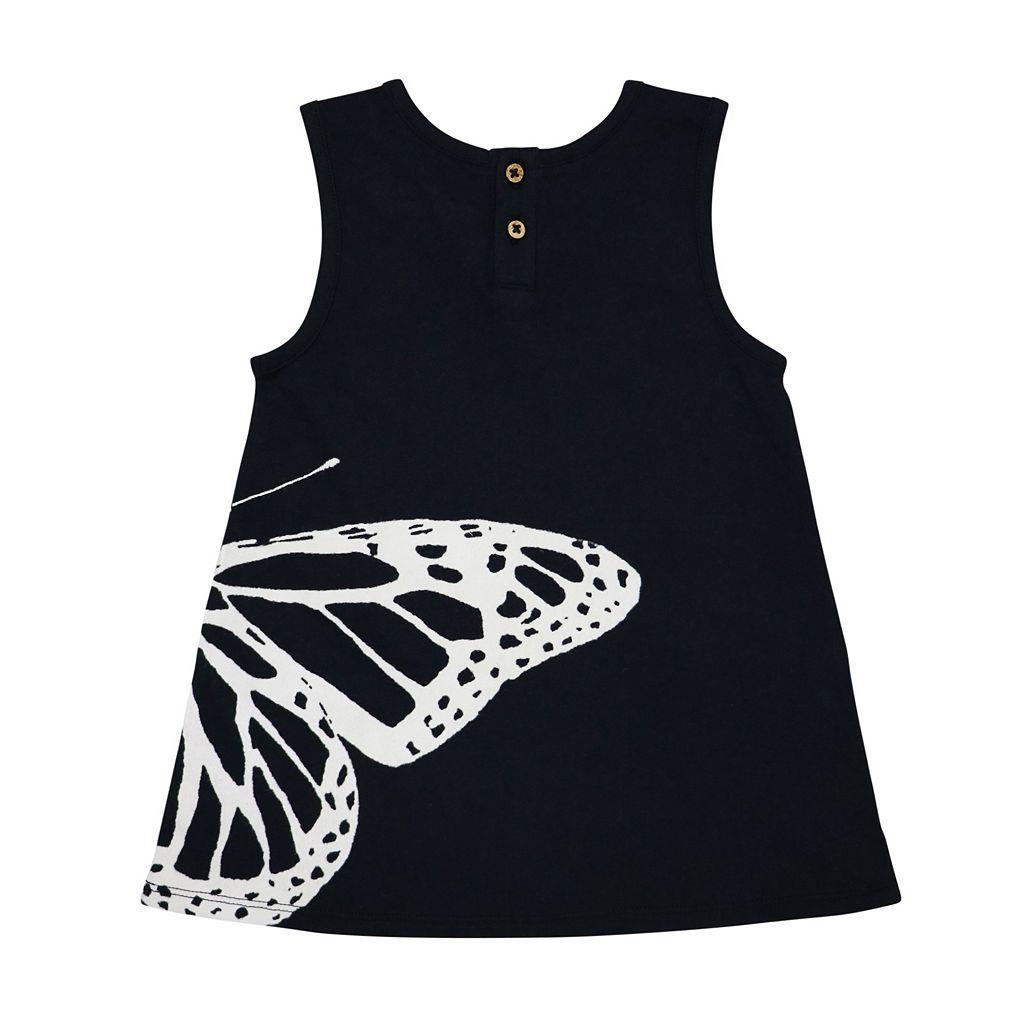 Toddler Girl Burt's Bees Baby Butterfly Tunic & Tie-Dye Capri Leggings Set
