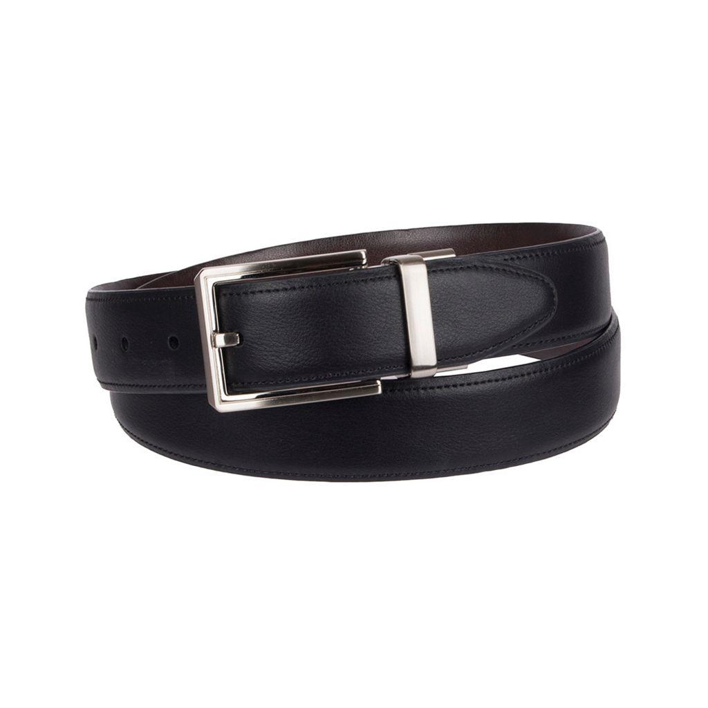 Big & Tall Croft & Barrow® Reversible Feather-Edge Textured Belt