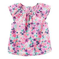 Girls 4-8 OshKosh B'gosh® Print Keyhole-Accent Top