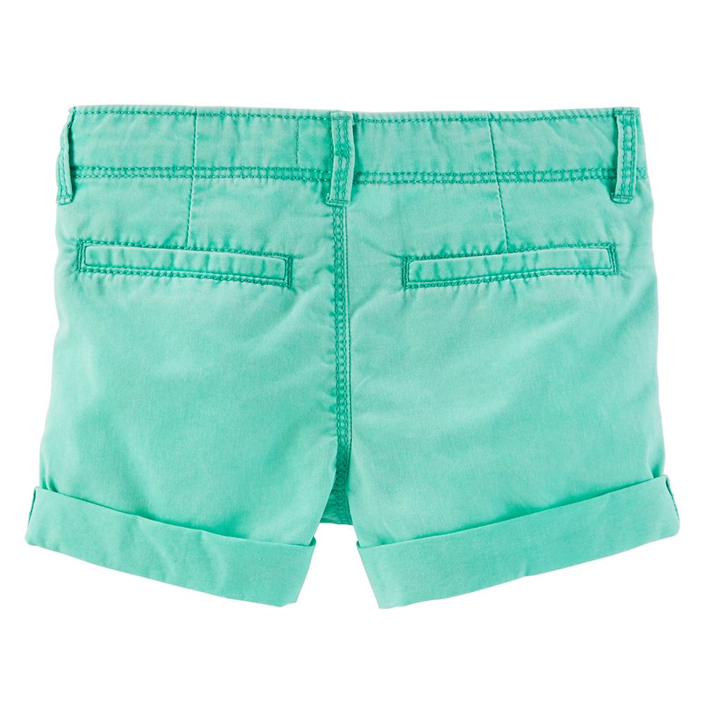 Girls 4-8 OshKosh B'gosh® Solid Twill Rolled Cuff Shorts