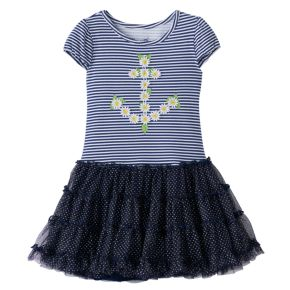 Toddler Girl Nanette Daisy Anchor Dress