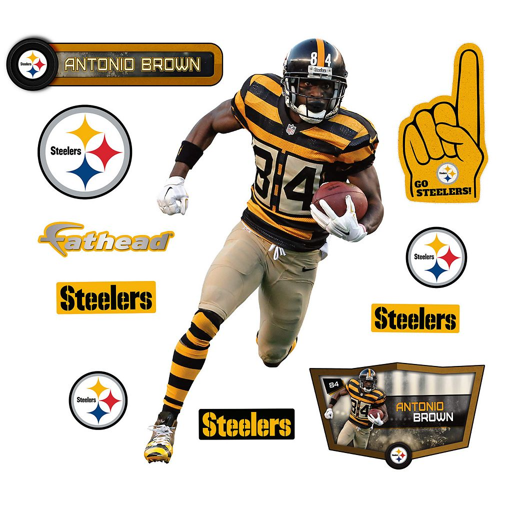 Pittsburgh Steelers Antonio Brown Wall Decal by Fathead