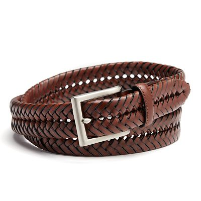 Croft and Barrow Basket Weave Leather Belt