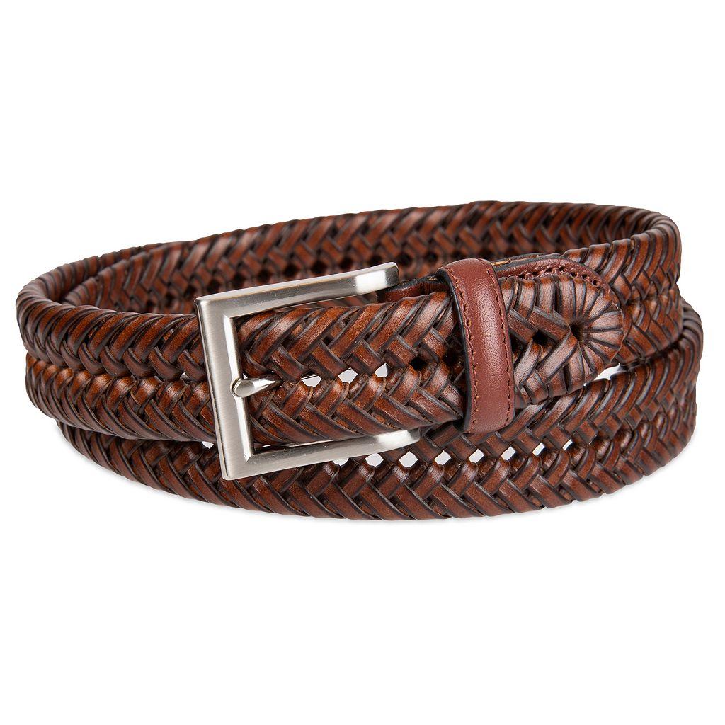Men's Croft & Barrow® Handlaced Basket Weave Braided Belt