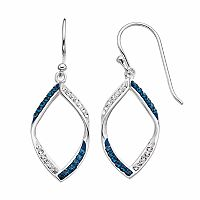 Silver Luxuries Crystal Marquise Drop Earrings