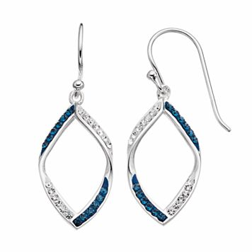 Silver Luxuries Crystal Marquise Drop Earrings