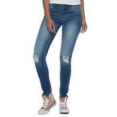 Juniors' Mudd® FLX Stretch Ripped Skinny Jeans