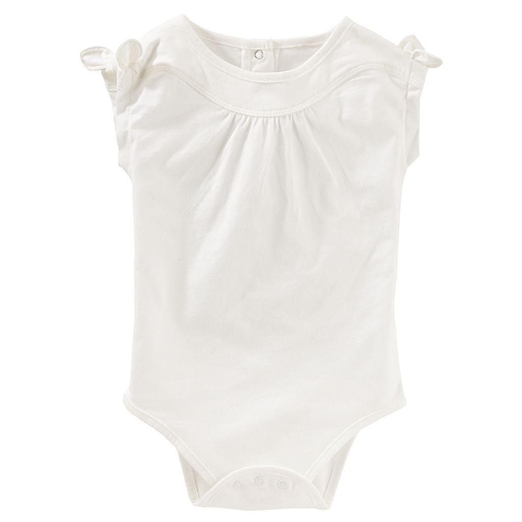 Baby Girl OshKosh B'gosh® Shirred Knot-Sleeve Bodysuit