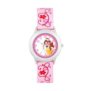 Disney's Beauty and the Beast Belle Kids' Crystal Time Teacher Watch