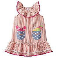 Toddler Girl Nannette Applique Seersucker Dress
