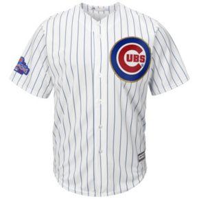 Men's Majestic Chicago Cubs Kris Bryant 2016 World Series Champions Gold Program Cool Base Replica Jersey
