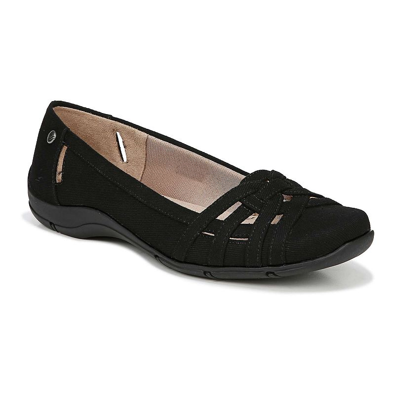 This product may experience shipping delays beyond promise date expressed at check out and email.Experience soft comfort in a sophisticated style with these women\\\'s Diverse flats from LifeStride.SHOE FEATURESSimply Comfort design for an easy fitSlim side cutoutsStrappy overlaysSHOE CONSTRUCTIONSynthetic upperFabric liningManmade outsoleSHOE DETAILSRound toeSlip-onPadded footbed0.5-in. heel  Size: 10. Color: Black. Gender: female. Age Group: adult. Pattern: Solid.