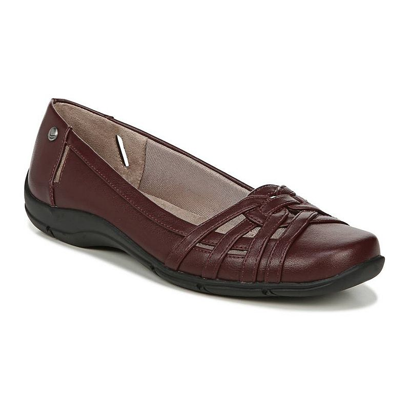 This product may experience shipping delays beyond promise date expressed at check out and email.Experience soft comfort in a sophisticated style with these women\\\'s Diverse flats from LifeStride.SHOE FEATURESSimply Comfort design for an easy fitSlim side cutoutsStrappy overlaysSHOE CONSTRUCTIONSynthetic upperFabric liningManmade outsoleSHOE DETAILSRound toeSlip-onPadded footbed0.5-in. heel  Size: 11 Wide. Color: Red. Gender: female. Age Group: adult.