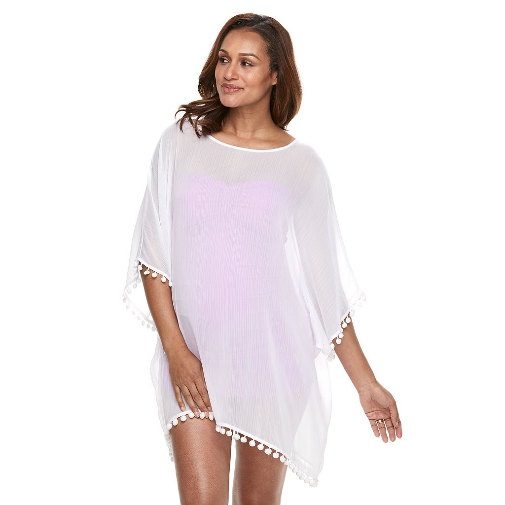 Pink Envelope Maternity Chiffon Swim Cover-Up