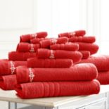 Pacific Coast Textiles 18-piece Luxury Embroidered Fleur Swirl Towel Set