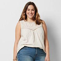 Plus Size SONOMA Goods for Life™ Split Eyelet Top