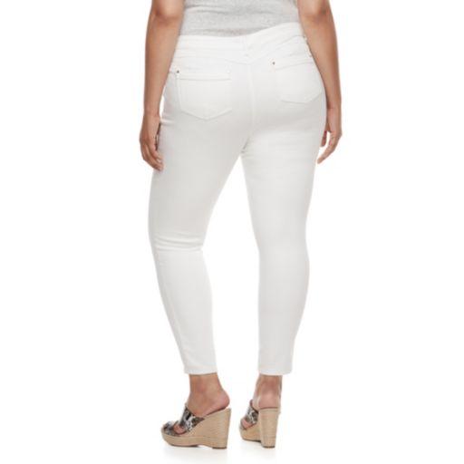 Plus Size Jennifer Lopez Destructed Super Skinny Jeans