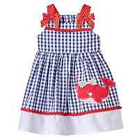Baby Girl Nannette Whale Seersucker Dress