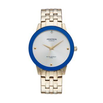 Armitron Men's Diamond Stainless Steel Watch - 20/4952SVGP