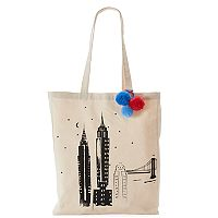 Tri-Coastal Design NYC Skyline Canvas Tote