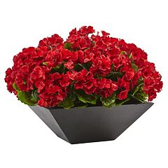 nearly natural Artificial 15-in. Geranium Plant