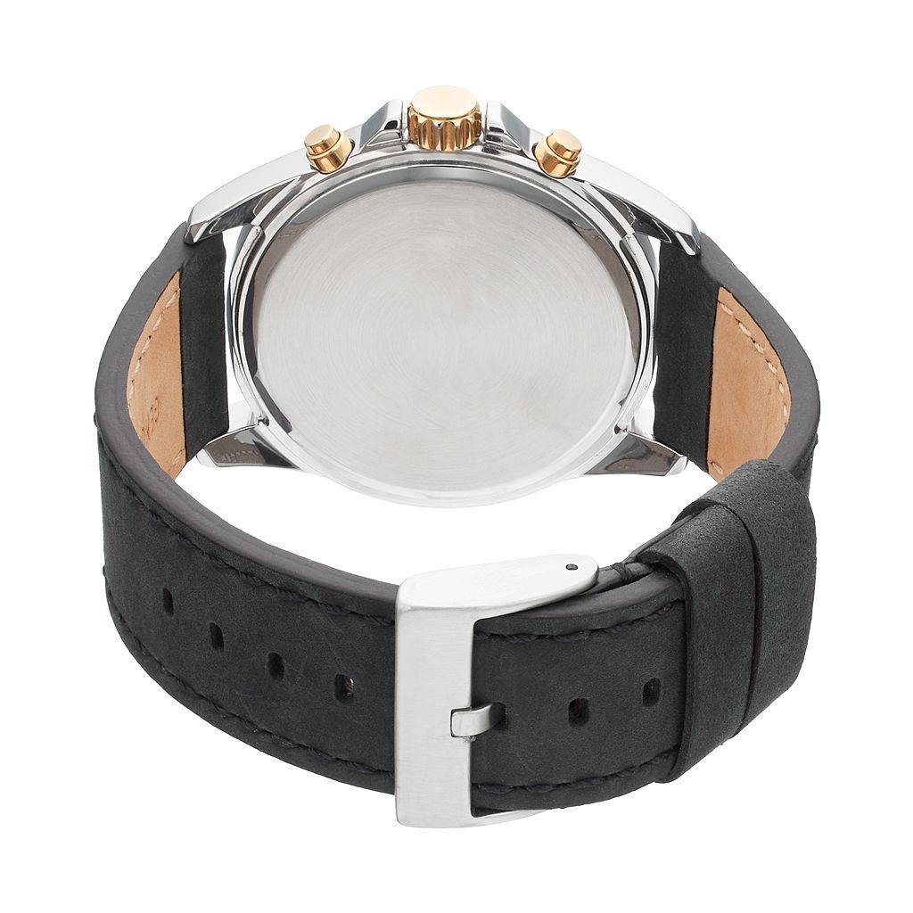 Armitron Men's Leather Watch - 20/5220BKTTBK
