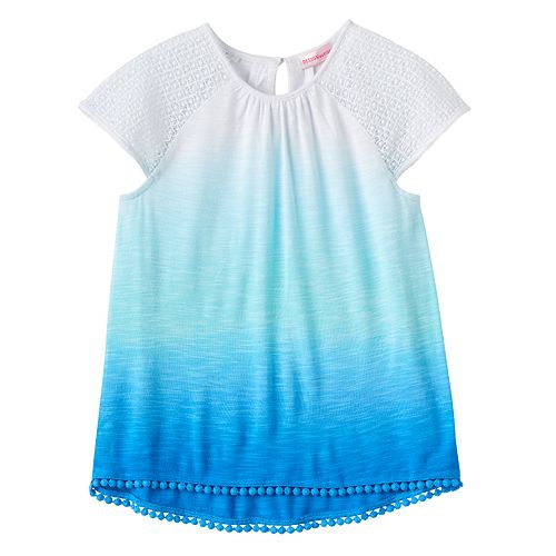 Girls 4-6x Design 365 Ombre High-Low Hem Top